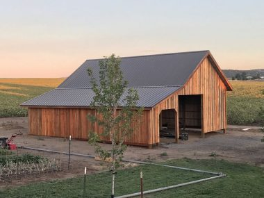 Barn with Weathered Copper Roof