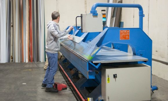Northwest Steel making steel trim pieces.